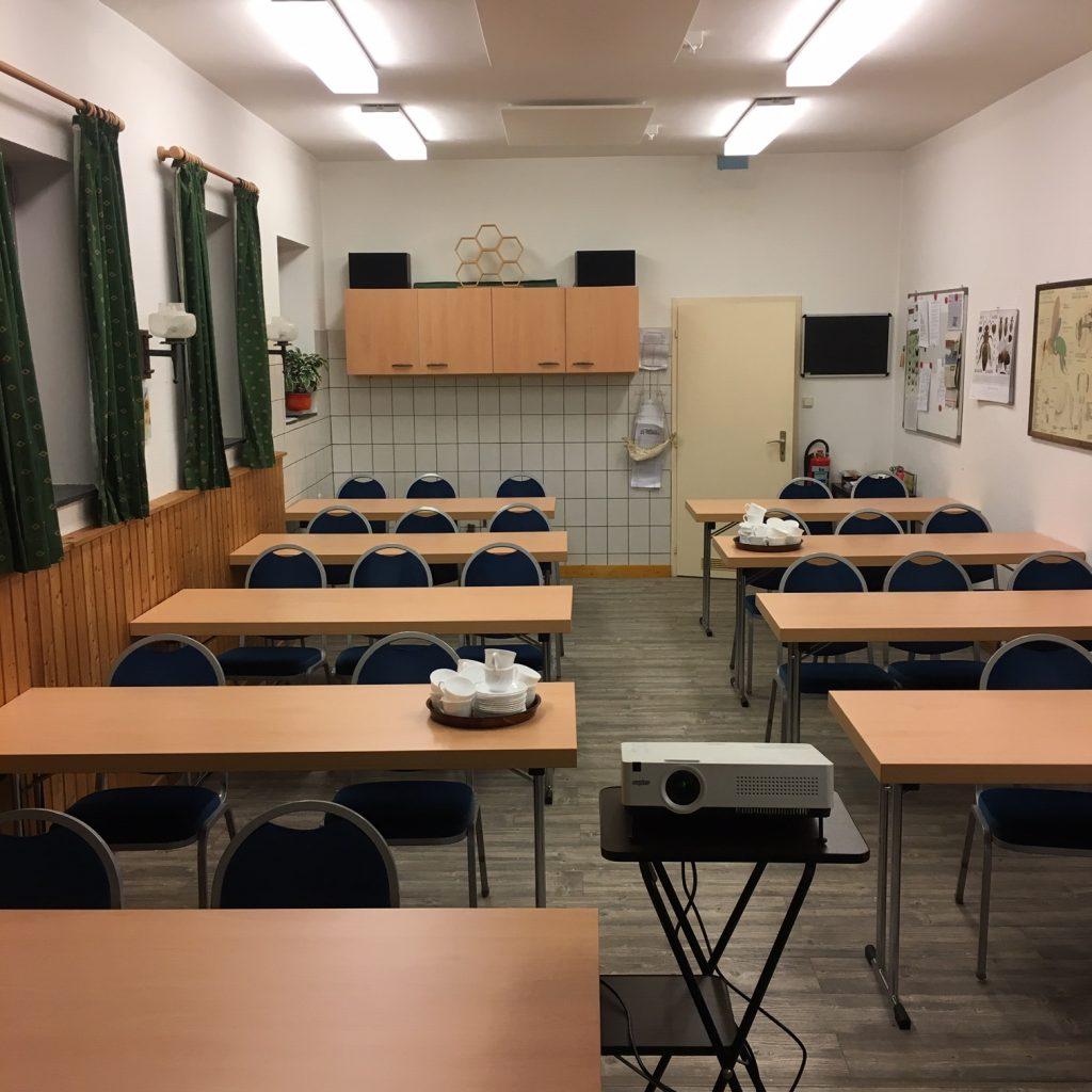 Schulungsraum im Vereinsgebäude